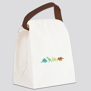 Prehistoric Medley Border Canvas Lunch Bag